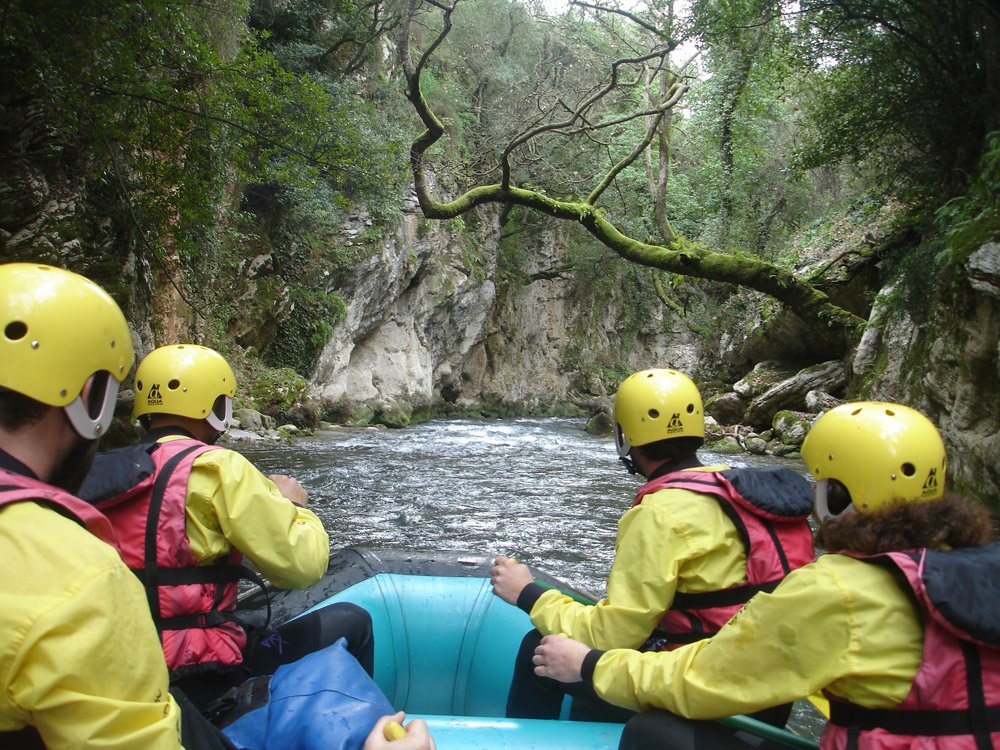 Experience Greek nature up on a rafting boat