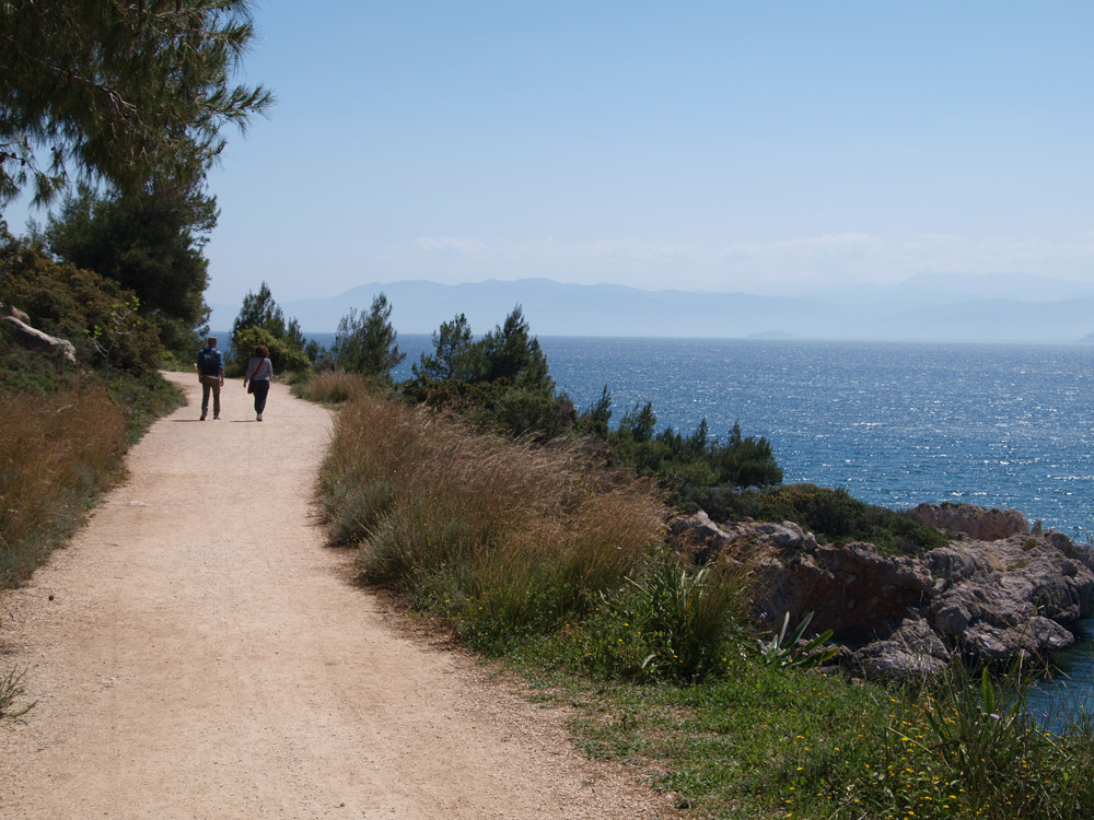 Hike in coastal paths of Nafplio