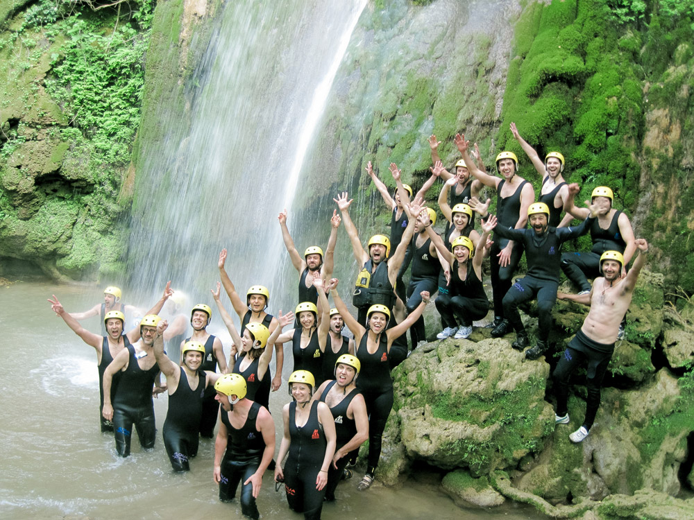 Visit hidden waterfalls during the rafting experience